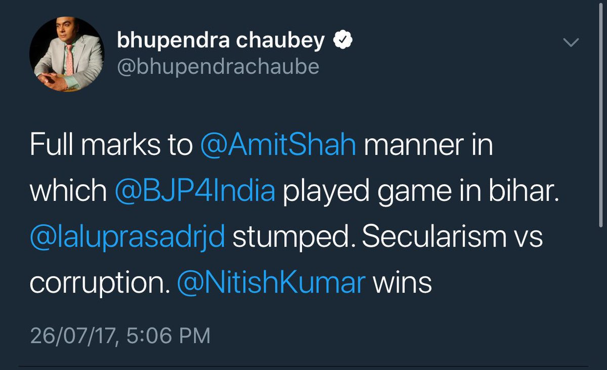 Full marks to @bhupendrachaube for his s...