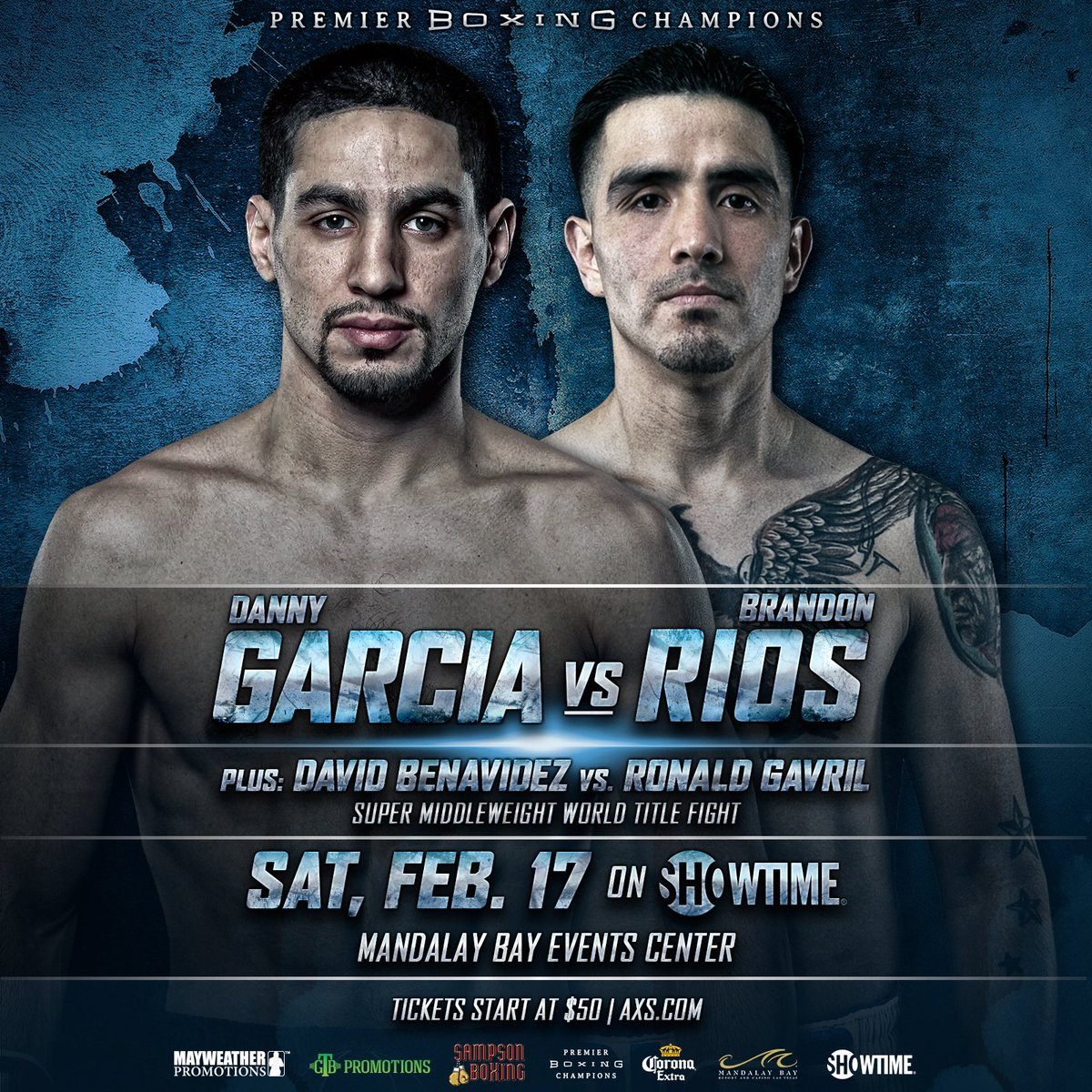 test Twitter Media - 1 month from today, Brandon Rios and Danny Garcia will square up in a welterweight showdown February 17th at the Mandalay Events Center. David Benavidez and Ronald Gavril will rematch in the co-feature. Tickets are on sale now https://t.co/J2eKkHztD0 #GarciaRios #BenavidezGavril https://t.co/bxCrrlbHOG