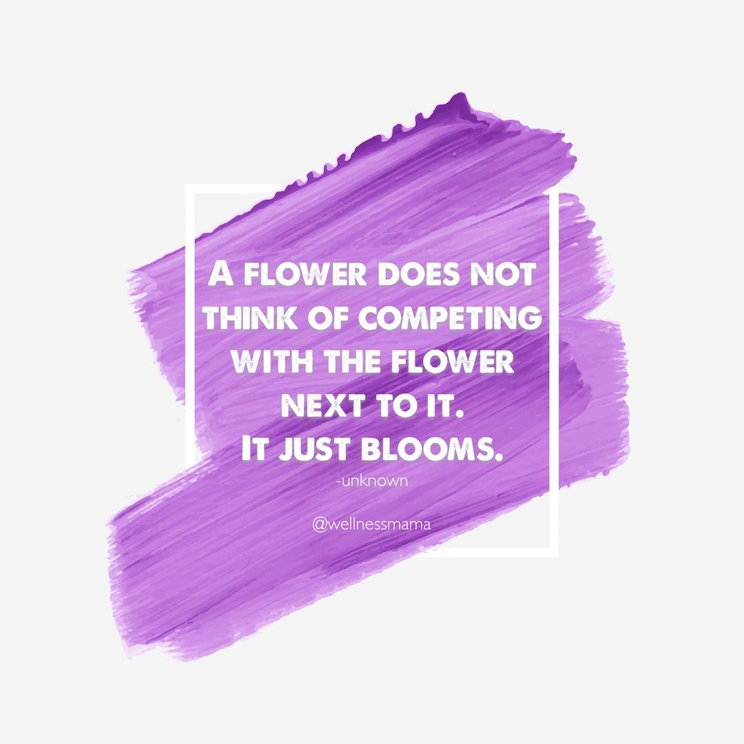 What if we all just bloomed? #wellnessmama