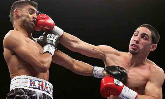"""test Twitter Media - #TBT to the last time Danny """"Swift"""" Garcia fought at the Mandalay Bay, with a win over Amir Khan via TKO4. Garcia returns to the Mandalay Bay 2/17 against Brandon Rios. Get your tickets today: https://t.co/J2eKkHR51A https://t.co/5zAhok0gPw"""