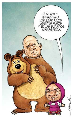 El oso Zavababoso y Masha Pistos, en teo...
