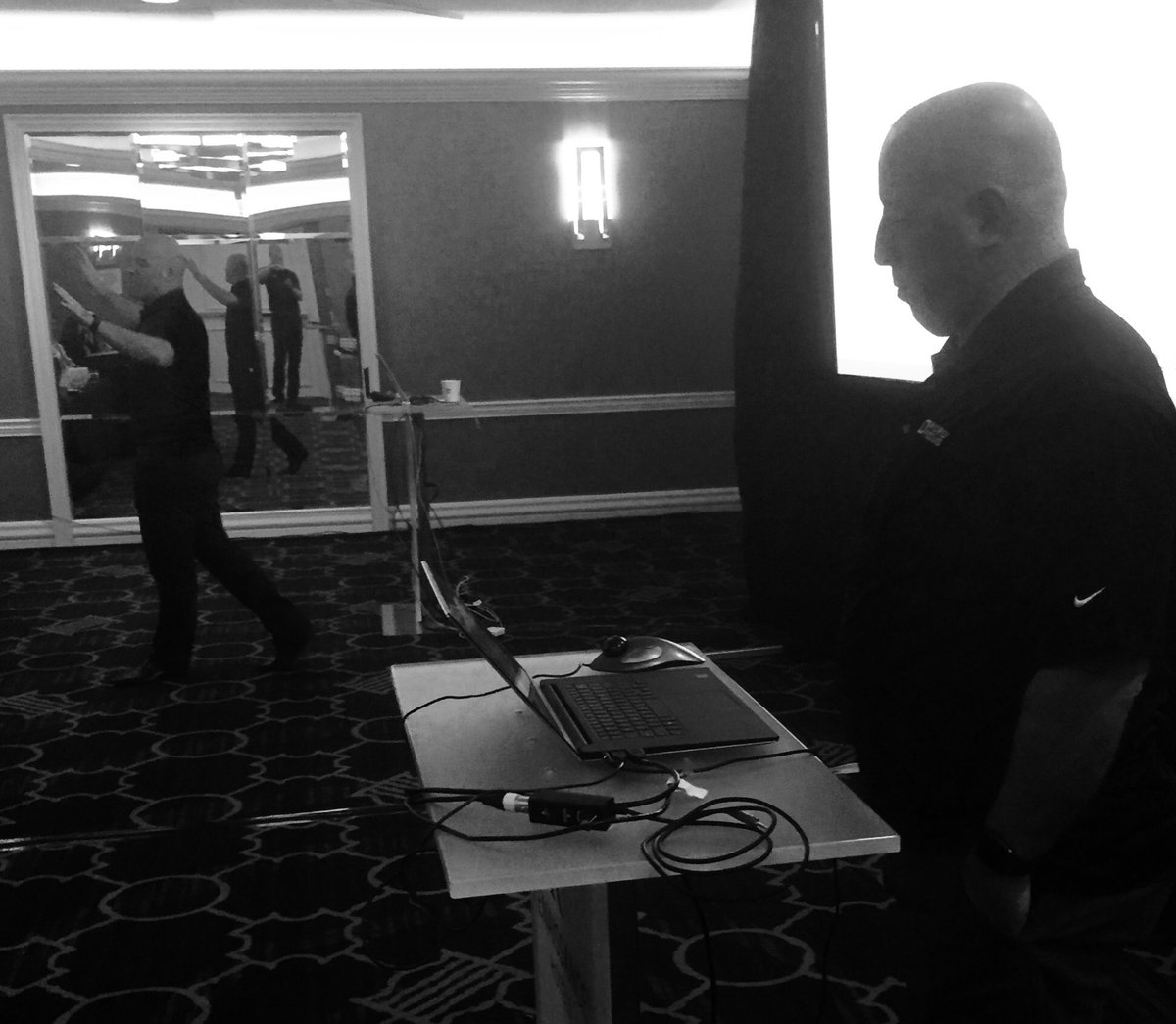 The legend continues. #cobfather @MBleistein joins @rquedas to demo #CI #tech at @microfocus  #devday<br>http://pic.twitter.com/Vx9GRm8nHN