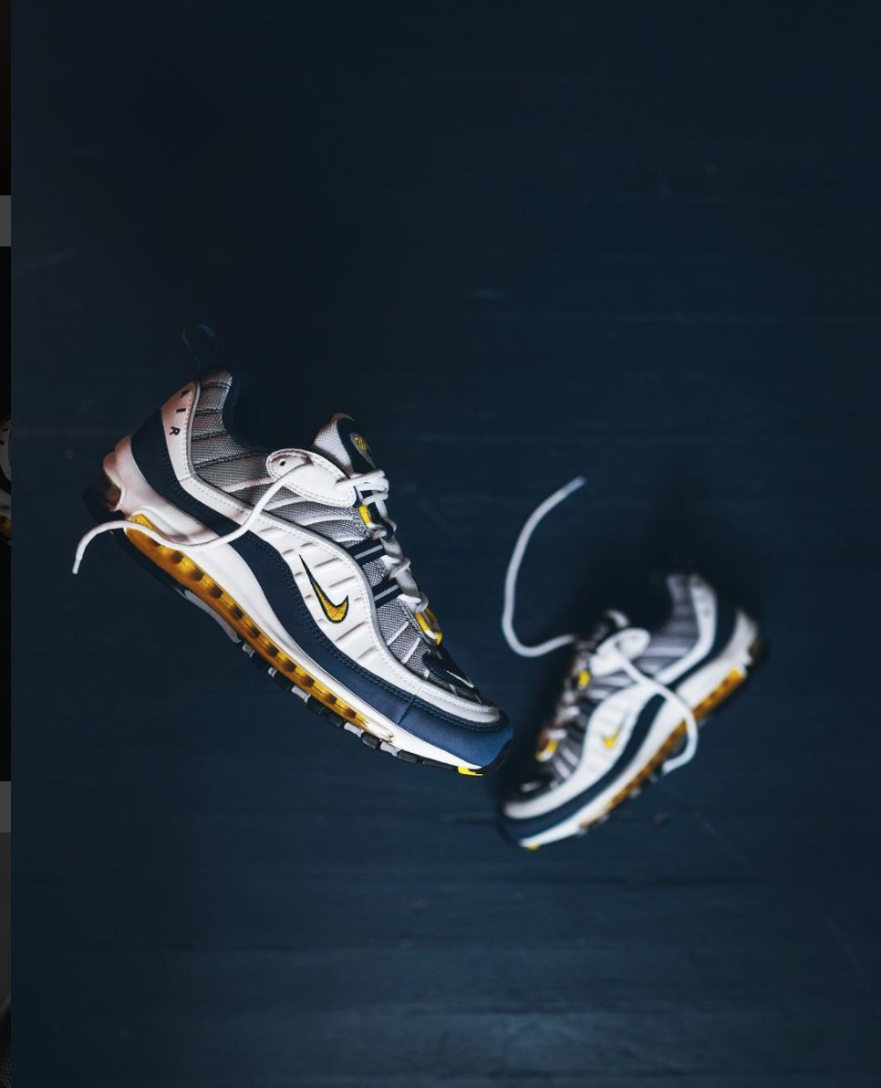 7518242d27fd ... Nike Air Max 98 OG makes its return in two colorways NEXT WEEK on January  26 in Gundam and Tour Yellow on Nike.ca  http   kicksdeals.ca release-dates   ...