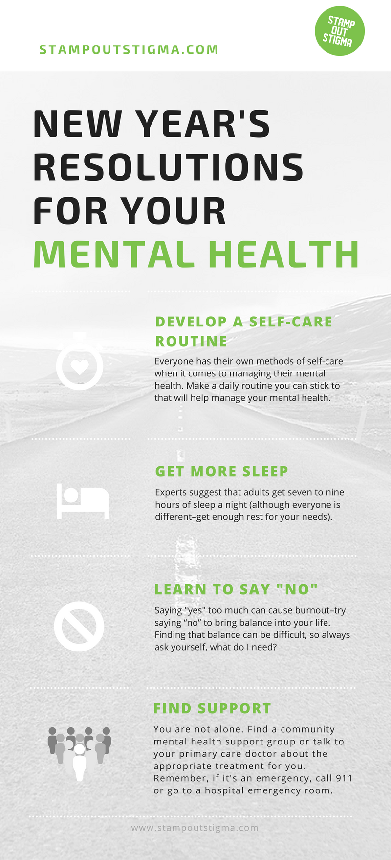 stamp out stigma on twitter a1 we always suggest starting a new self care routine in the new year if you repeat healthy habits they will start to feel