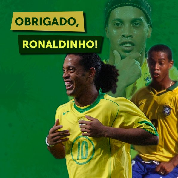Ronaldinho nos fez mais feliz com seu fu...