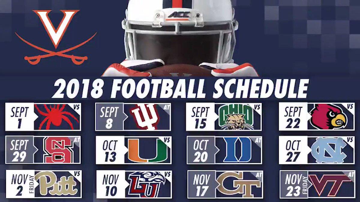 Uva 2019 Football Schedule Virginia Football on Twitter: