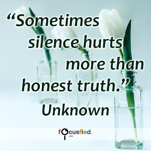 Kris Lee On Twitter Sometimes Silence Hurts More Than Honest