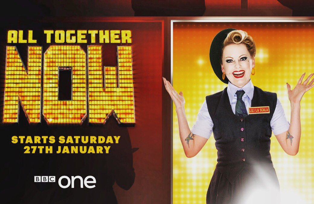 27th January, 7.15pm, #BBC1. All Together Now.  We had a blast making it - So much glorious music! Thrilled to be one of the 💯. 🎵 🎶 🎵  #alltogethernow #ATN #thehundred #the100 #bbc1