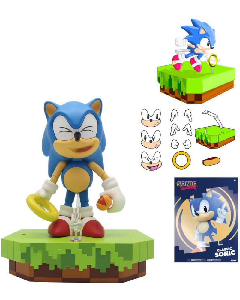 Patmac On Twitter Concept Art For The Tomy Classic Sonic Ultimate Figure Here We Can See All Of The Accessories Included As Well As An Early Mock Up Of The Packaging That