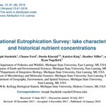 Lab member Chanse Ford worked with a team to digitize paper reports and tables from the National Eutrophication Study conducted by the @EPA in the early to mid 1970s. They published their data and a historical baseline analysis! https://t.co/jhru37j2Sx