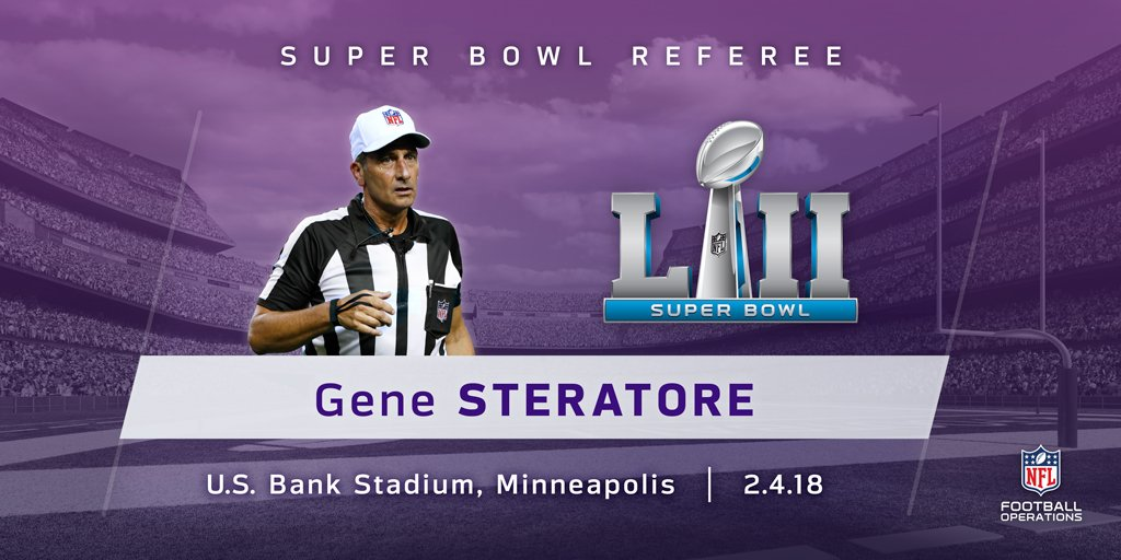 Gene Steratore will be the referee for @...