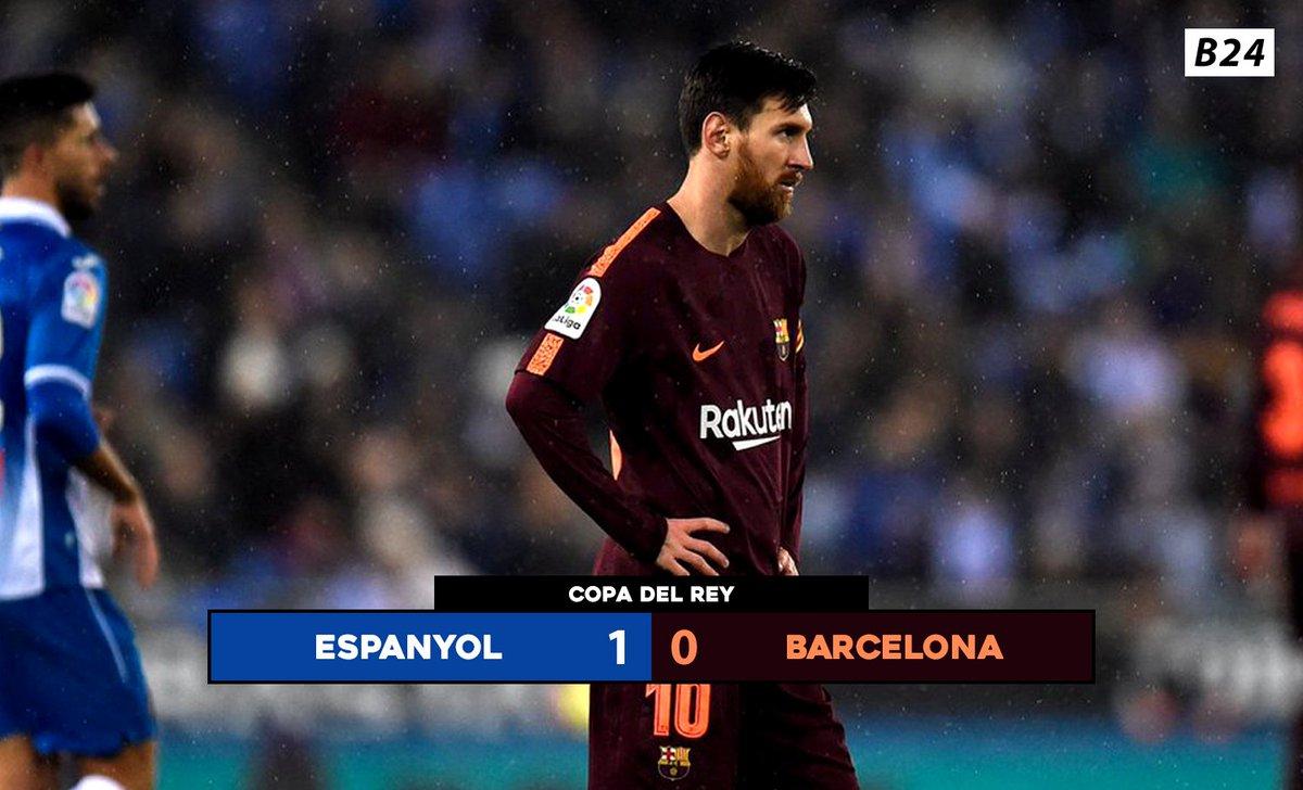 RT @B24pt: Messi desperdiça penálti e Barcelona perde a primeira mão contra o Espanyol. https://t.co/QUKJUVVuC6