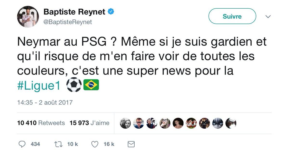 RT @ActuFoot_: Baptiste Reynet l'avait annoncé... #PSGDFCO https://t.co/KB2LwnG82G