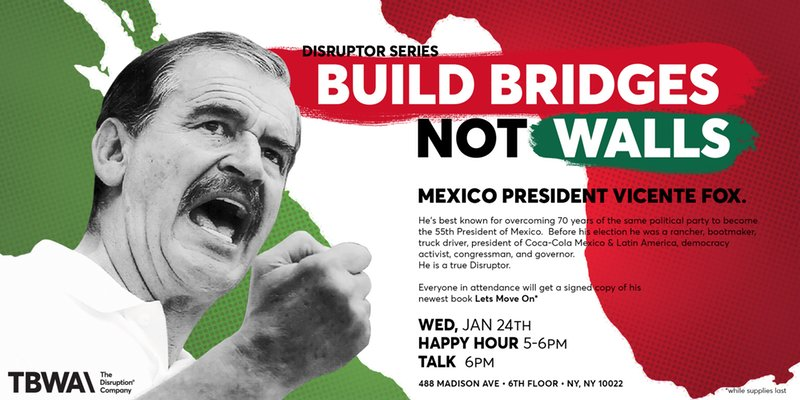 I'll be stopping by TBWA\Chiat\Day to share with you my vision what diplomacy should look like in a time when US and Mexico relations are on the balance. Register today: https://t.co/gzyXNTM47M