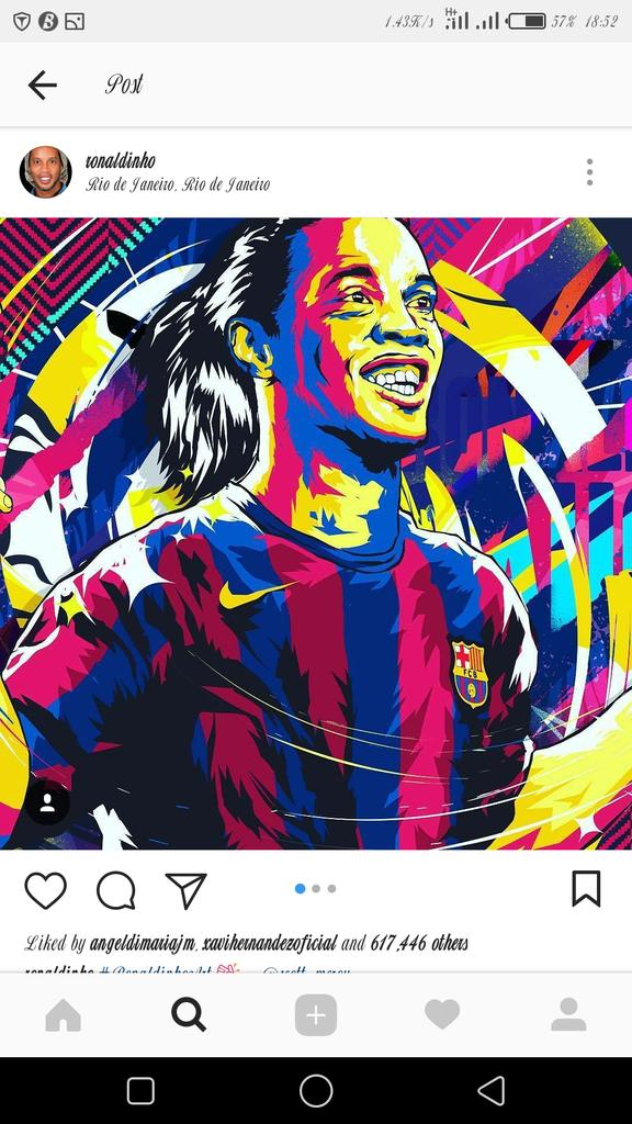 Thanks man. U made me love football. #soccer #ForcaBarca #greatest 🐐🐐💯✅✔🐐 https://t.co/LMeXHVNg9q