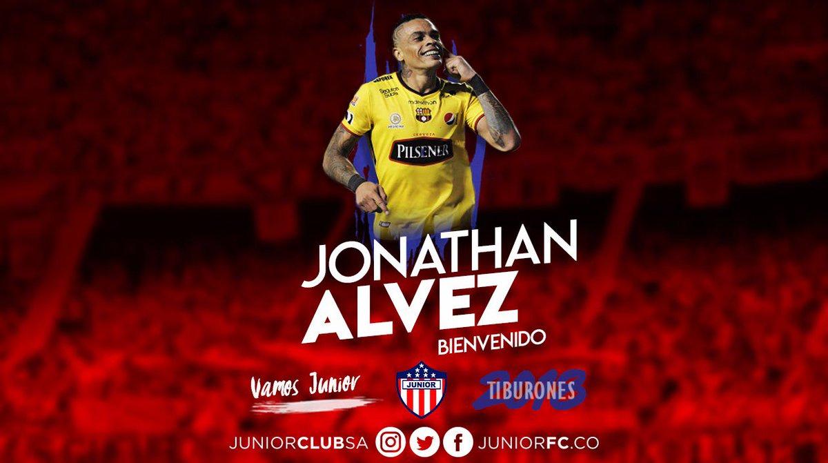 RT @JuniorClubSA: SE VISTE DE TIBURÓN ¡BIENVENIDO JONATHAN ALVEZ! #VamosJunior🔴⚪🔵 https://t.co/10Aob8YUnw
