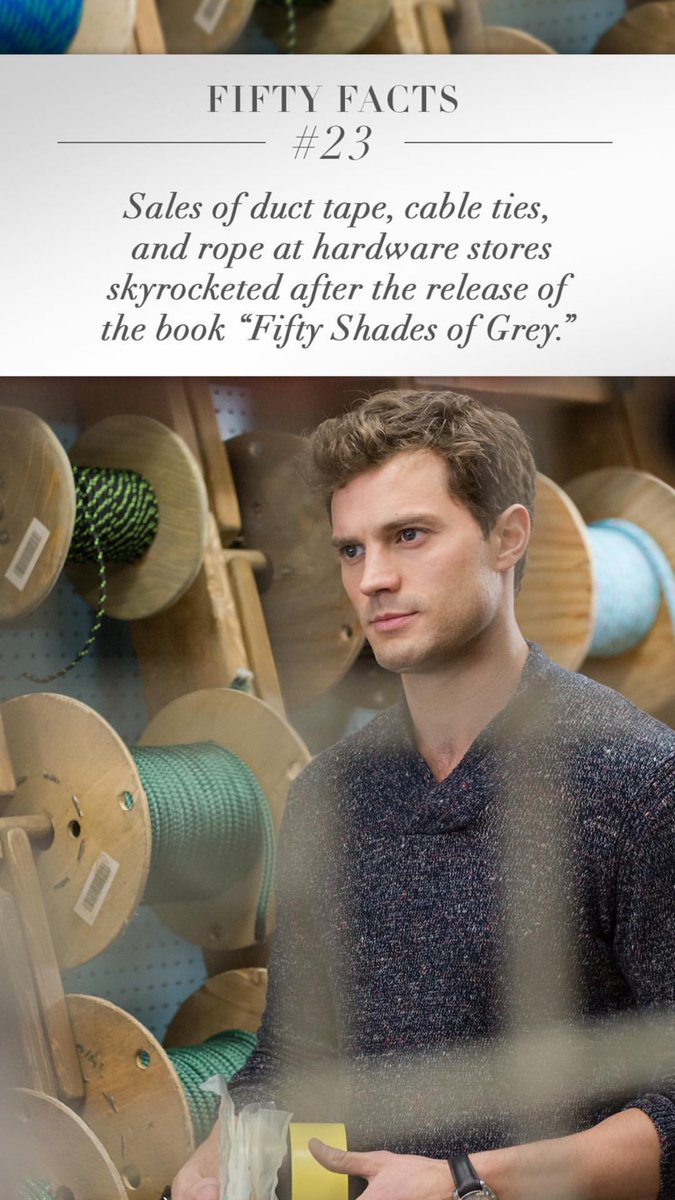 Sales Of Duct Tape Cable Ties And Rope At Hardware Stores Skyrocketed After The Release Of The Book Fifty Shades Of Grey Https T Co 2k9vtu17vy