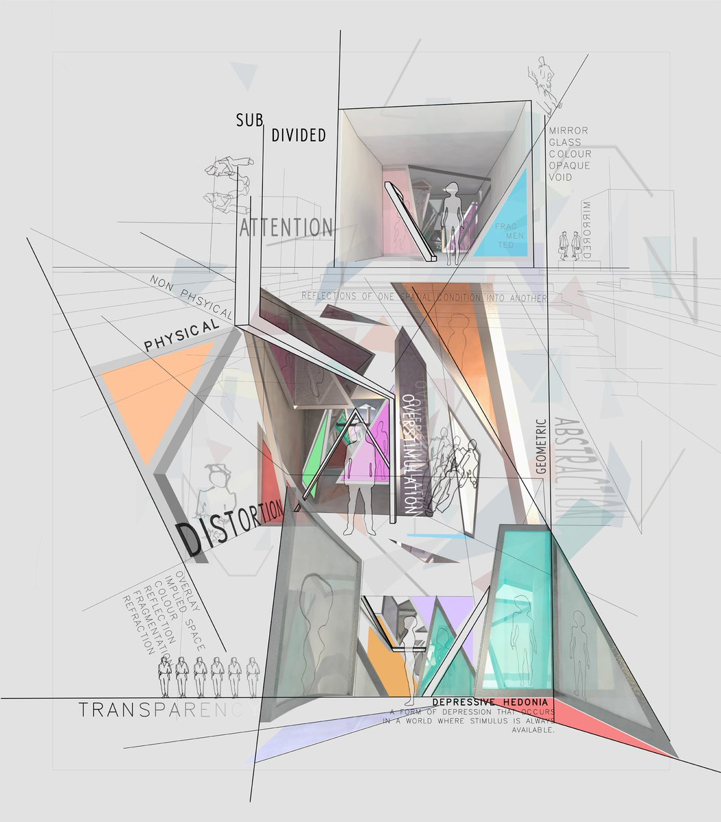 Monash Art Design And Architecture On Twitter Stimulation Abstraction Fragmentation Steph Worboys Master S Of Architecture Final Year Project Combines Visual Art And Graphic Design With Architecture To Visualise Spatial Distortion Https
