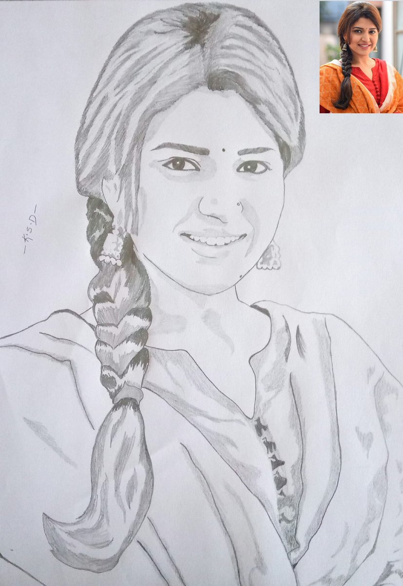 Ksd umesh on twitter my pencil sketch for the cutest actress chitrashuklaa hope u like ❤ this chitrashukla you made everyone to fall in love with