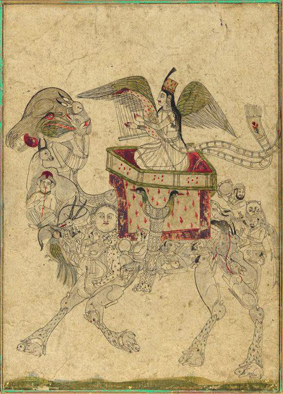 A composite camel and a rider, 19th cent...
