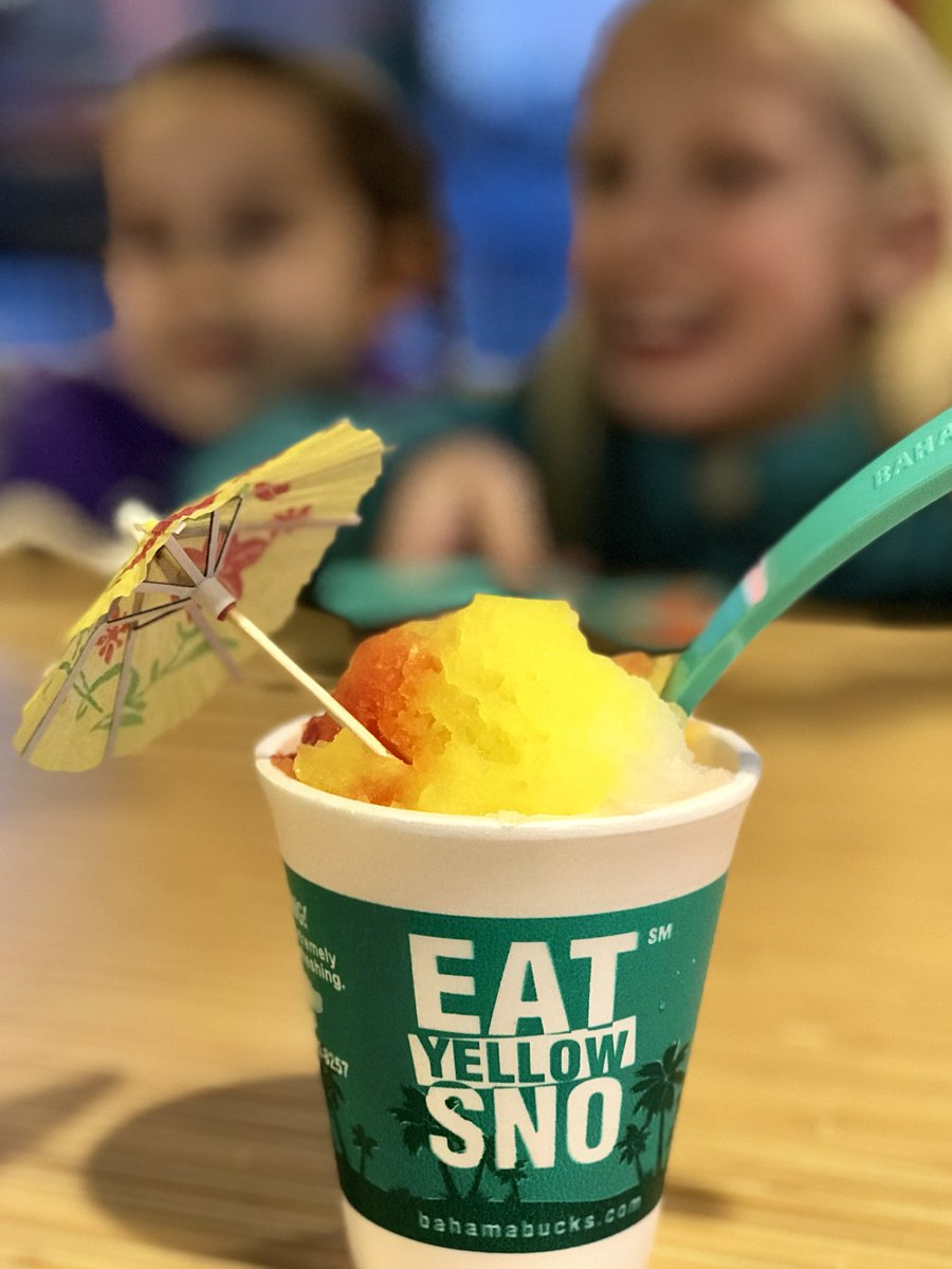 We're eating yellow snow! 😳🤪 @bahamabucks #yellowsnow #yummy https://t.co/ZxcSY5lJrI