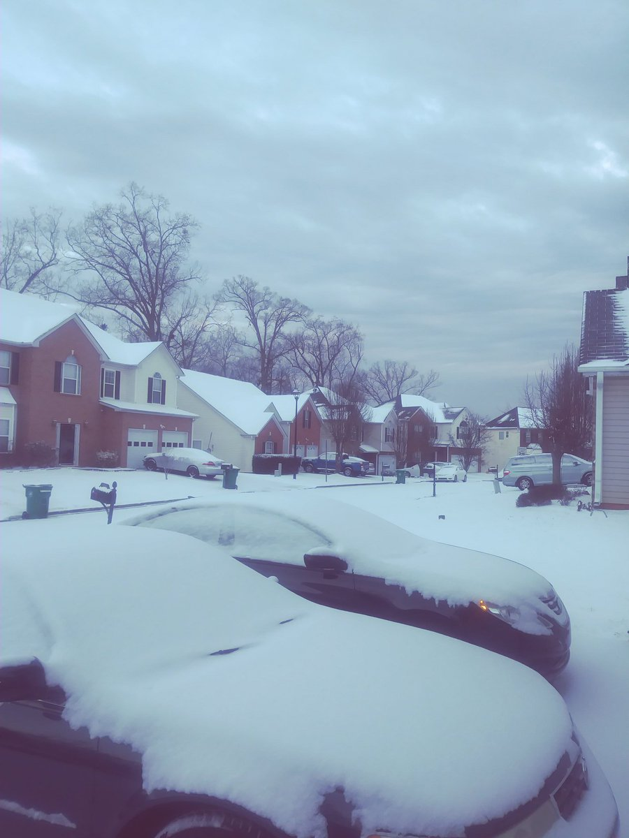 It was snowing in Atlanta ATL this morning