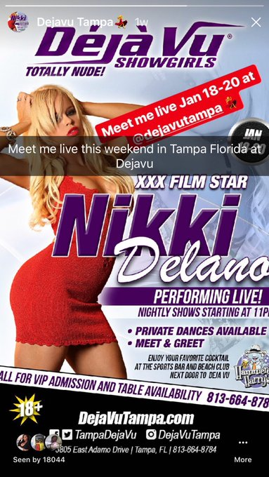 Off too Tampa tom lovers I'll be feature dancing at @TampaDejaVu https://t.co/uxU3pz1o7E