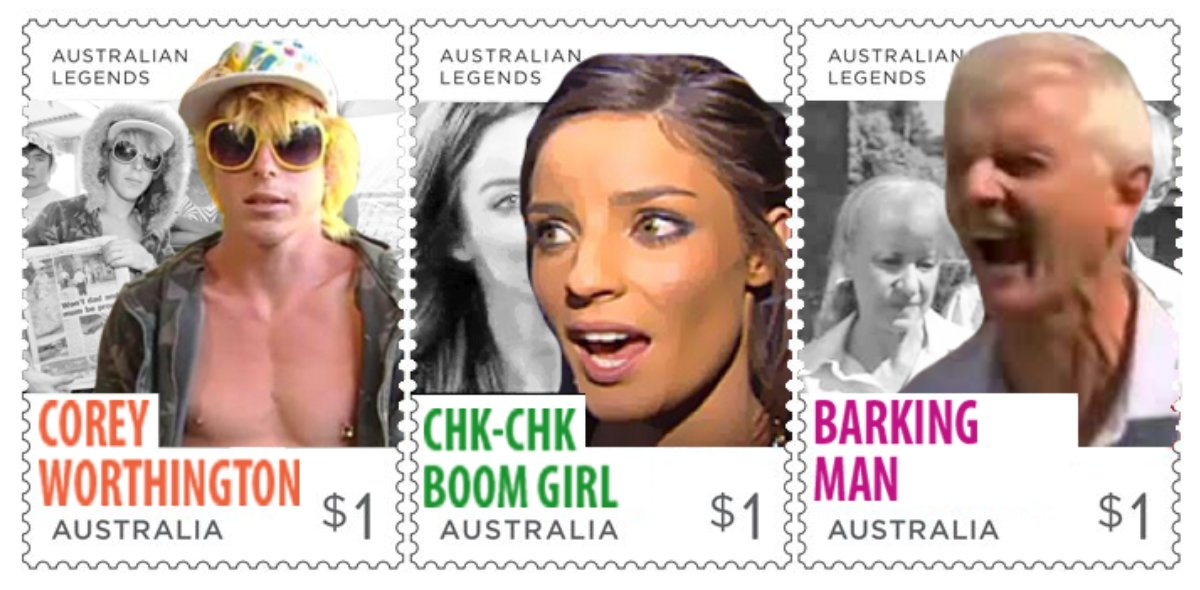 absolutely loving the new @AusPost stamp...