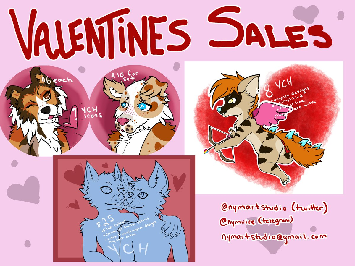 Nymart On Twitter Valentinesday Commission Offers Furry