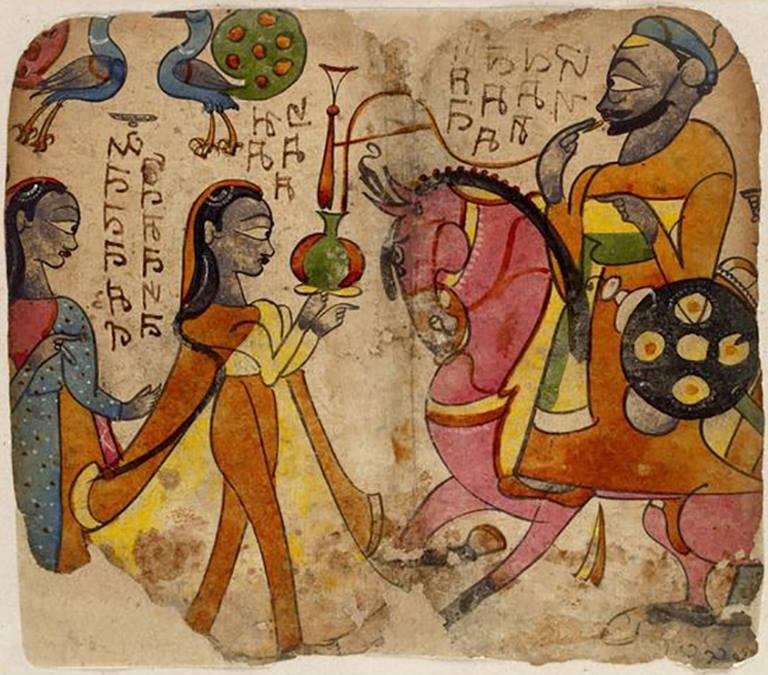 Unknown artist - A Raja on Horseback. Gu...