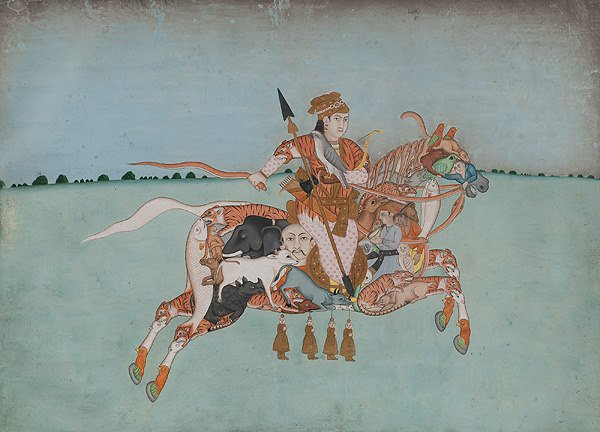 Composite Horse with Female Rider Opaque...