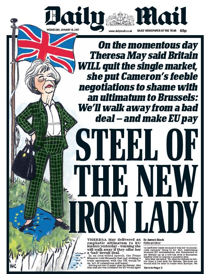 """It's the one year anniversary of the Daily Mail's """"Steel of the new Iron Lady"""" front-page about Theresa May. The author of that piece is now Downing Street Press Secretary.Anyone remember this now infamous front-page?  https://pbs.twimg.com/media/DTz0kFdXUAEDKZk.jpg  It feels like a million years ago. It's almost barmy that people thought of Theresa May as """"strong"""" at some point."""