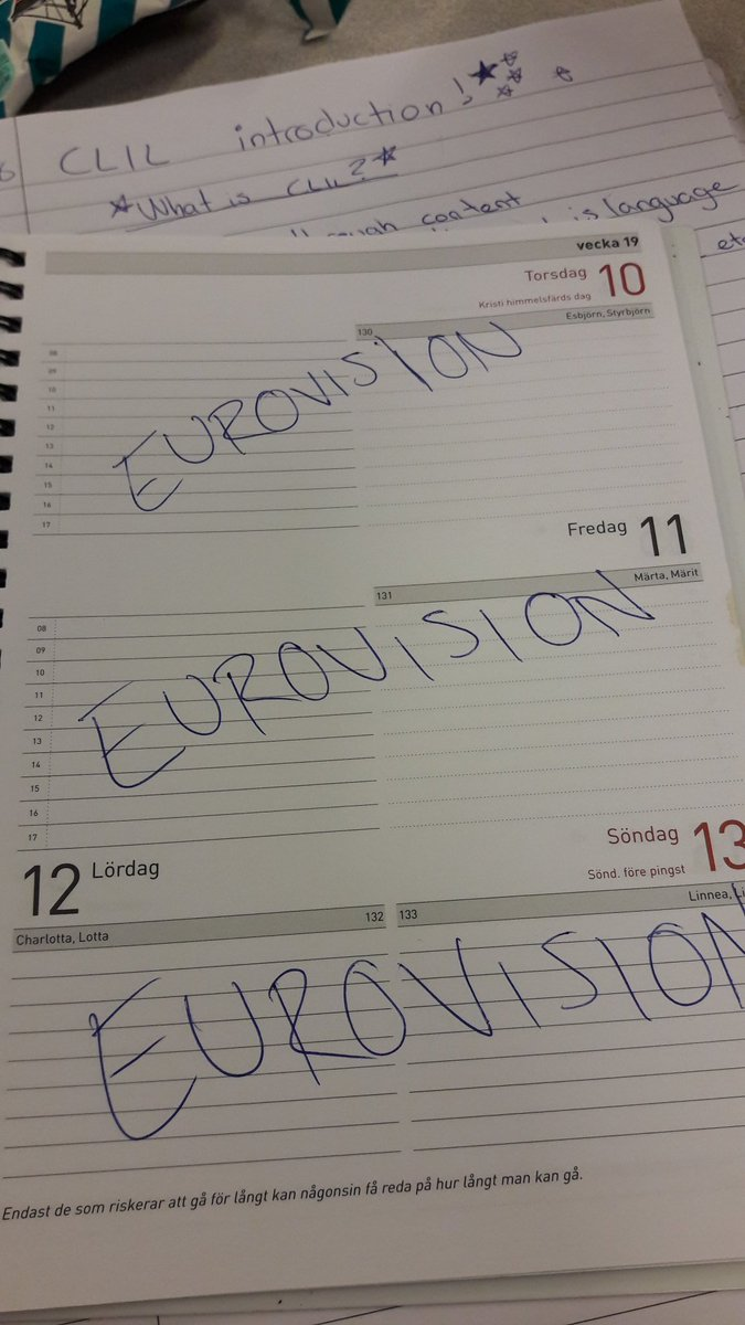 RT @schlagerpeppen: Nope sorry, that week is booked.  #eurovision https://t.co/zm7QcPyeGm