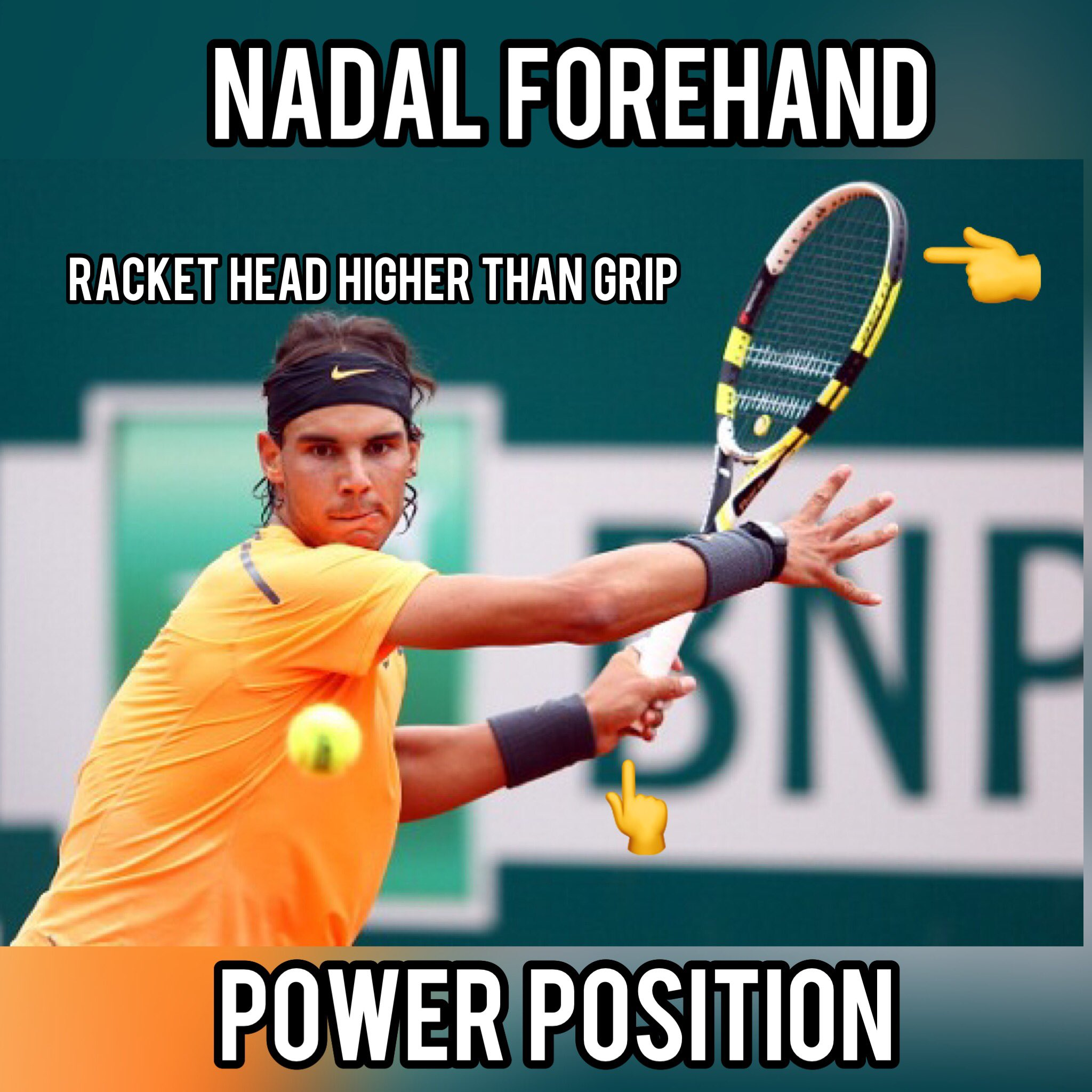 Top Tennis Training Pro Tennis Lessons On Twitter Rafa Nadal In His Forehand Power Position Follow Us Tennis Training Nadal S Racket Head Is Much Higher Than The Grip In This