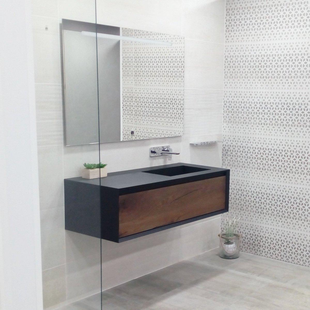 Mobili bagno stocco mobile lavabo sospeso in quercia in - Mobili bagno stocco ...