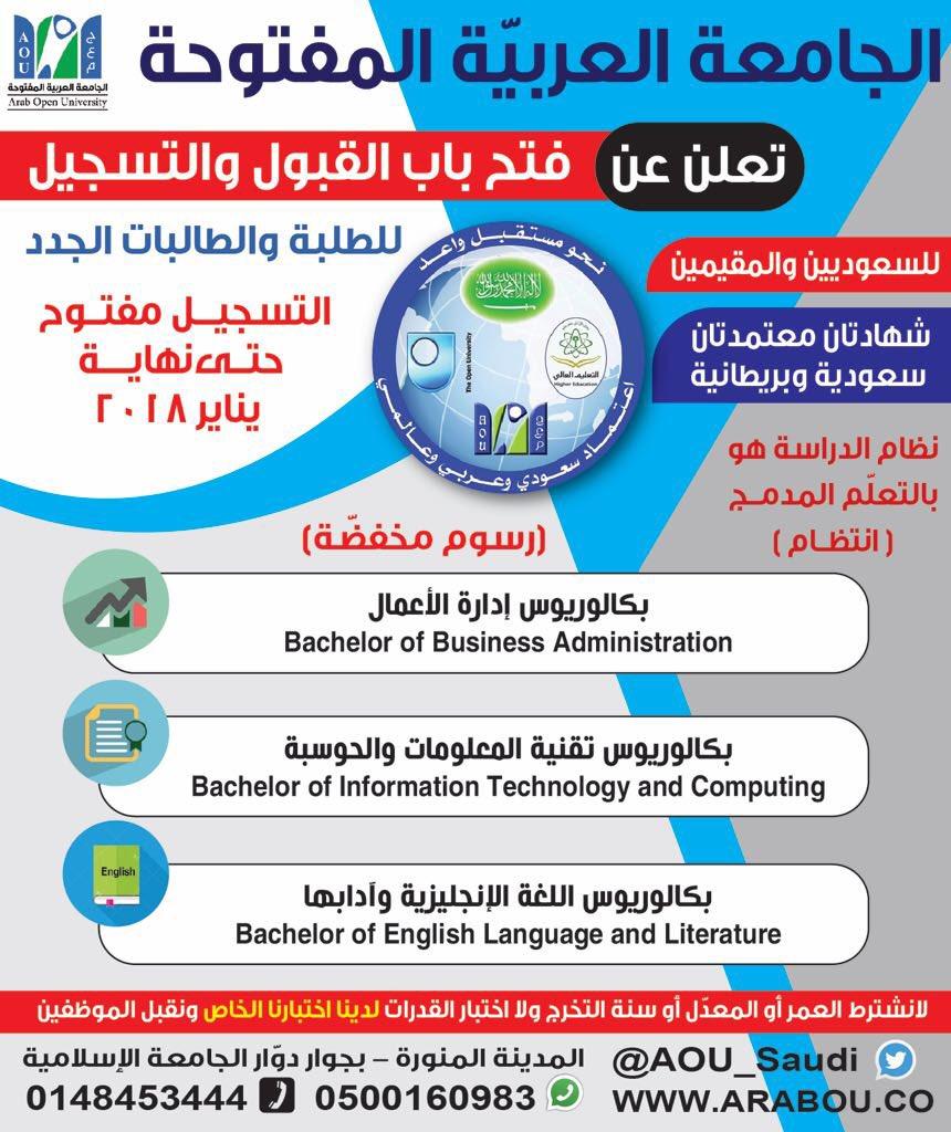 الجامعة العربية المفتوحة الرياض رسوم