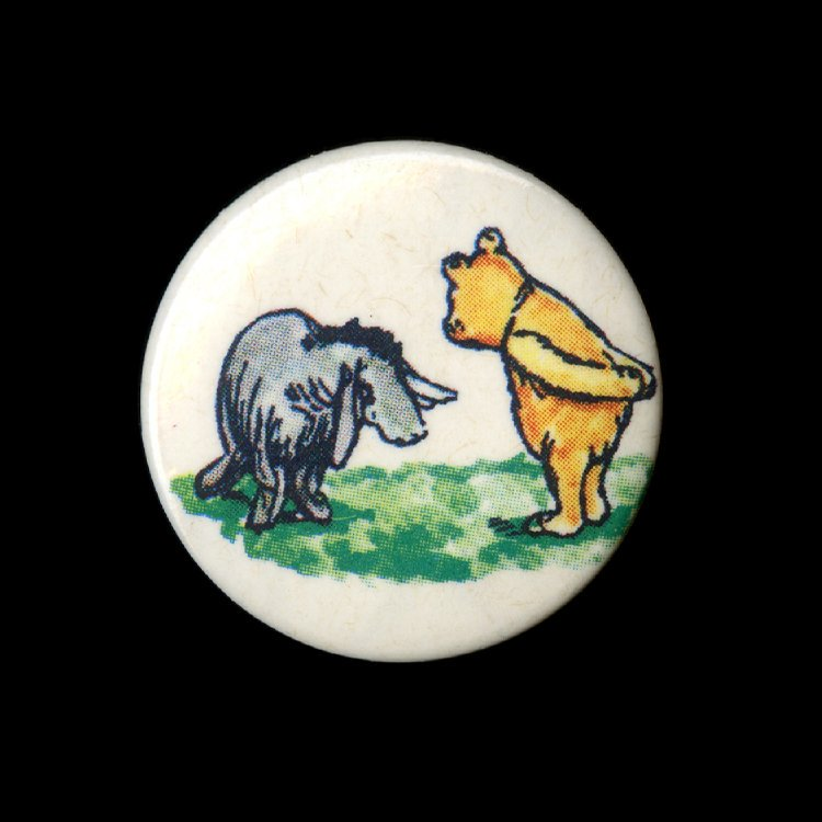 Winnie the Pooh author A A Milne was born #onthisday in 1882. Here are Eeyore and Pooh – who's your favourite character from the books?🐻🐷🐯🍯
