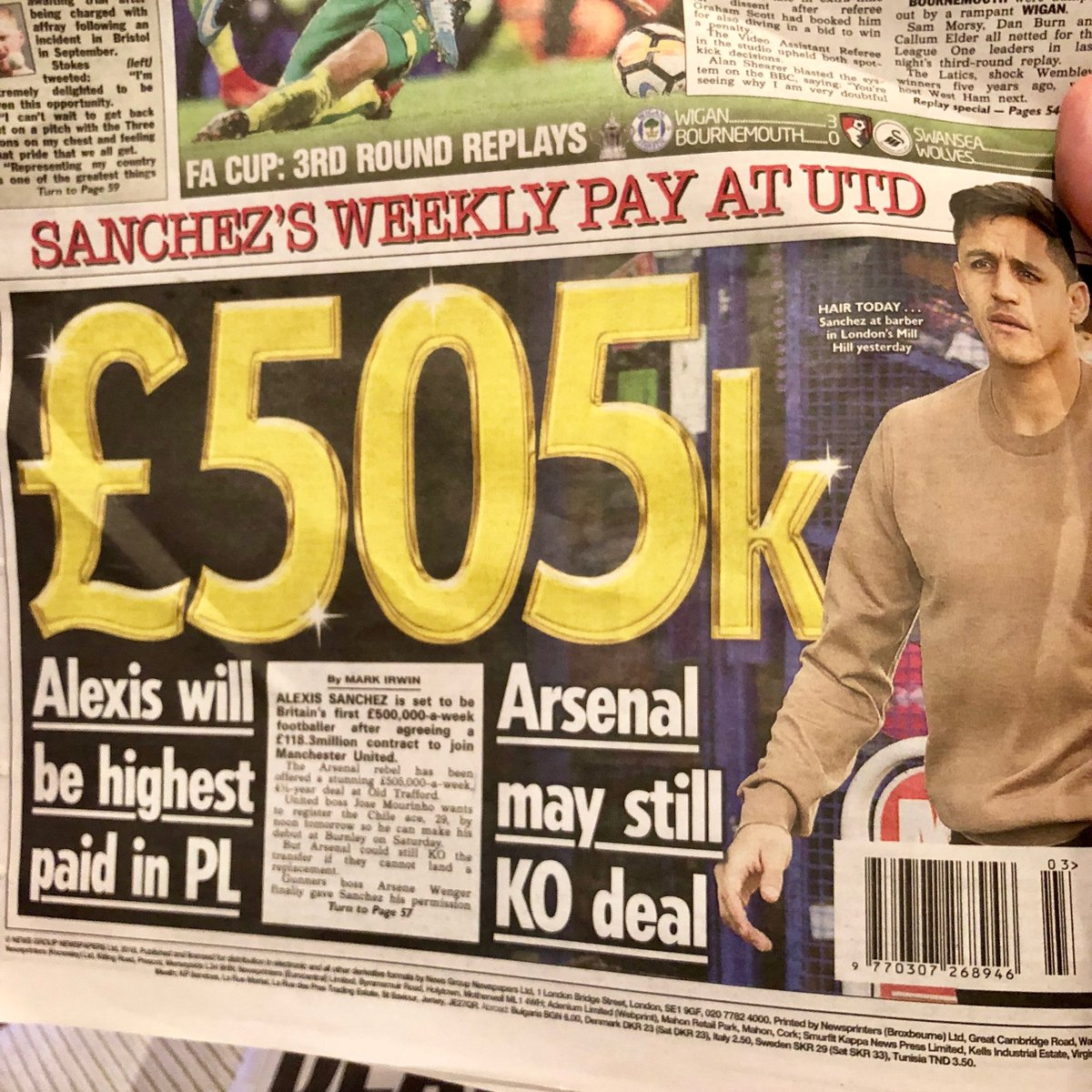 😂😂😂 If Sanchez is worth that, I'm a rhinoceros.