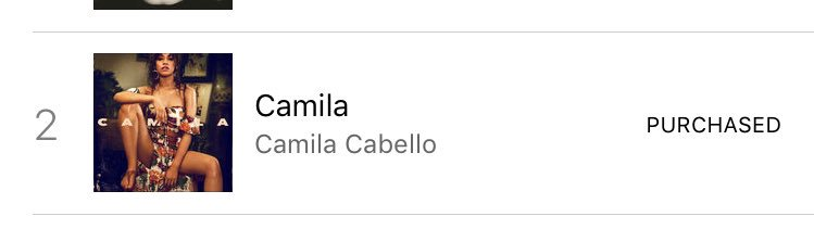 Camila's album is currently #2 on the Ba...
