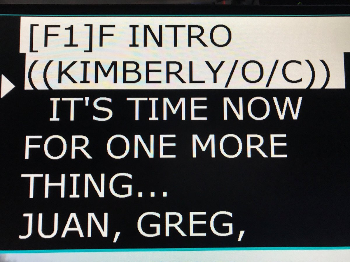 One More Thing is coming up! #omt #thefive #teleprompter