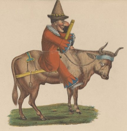 A Dutch Polichinel on a buffalo in 1856 (2018-02-01 18:10).