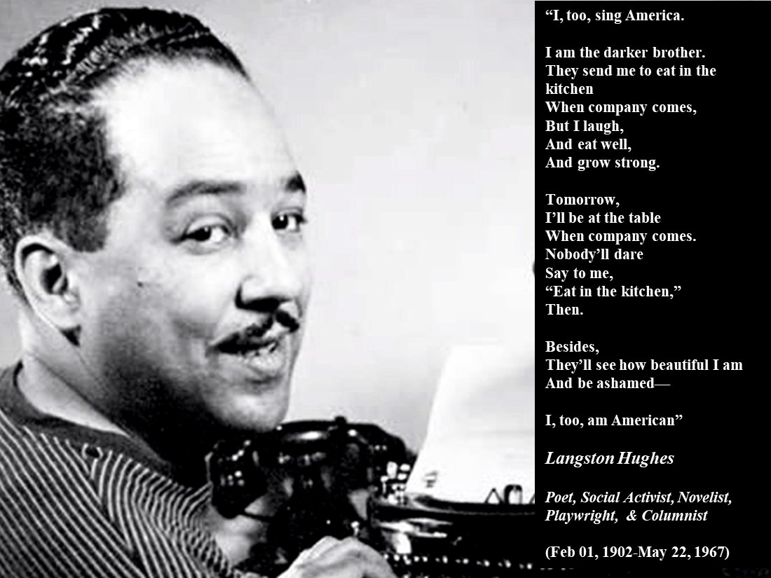 To learn more about Langston Hughes and other poets that made change in the  world. Go purchase the 2018 HBCU Black History Calendar at  http://bit.ly/BHHBCU ...