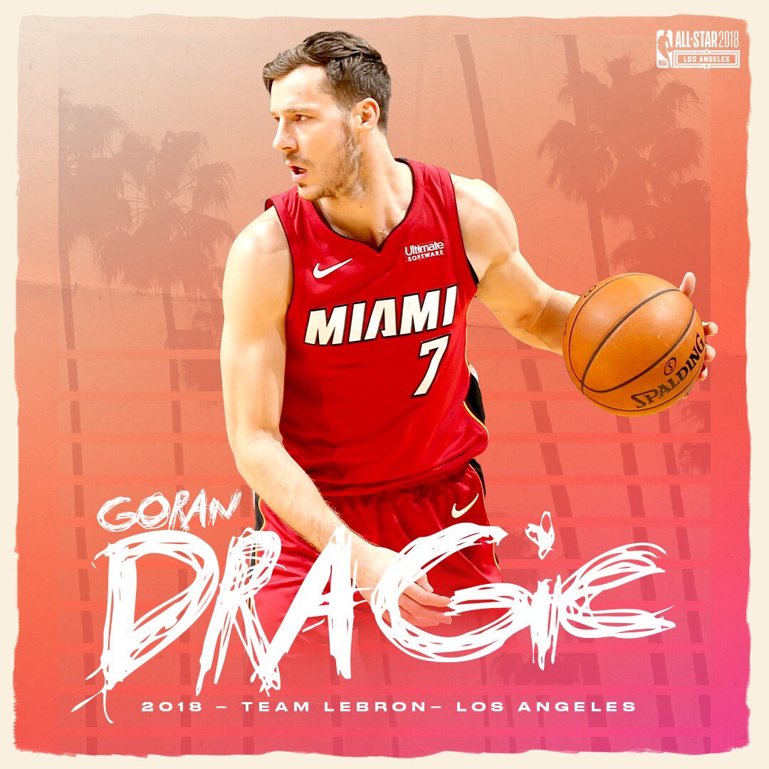 bde3fe95b69 Goran_Dragic will replace Kevin Love on #TeamLeBron in the 2018 #NBAAllStar  Game! 🔥 pic.twitter.com/50JvsTE147