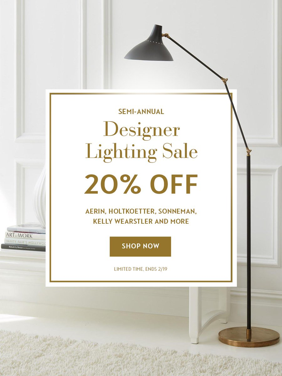 Save 20 Off All Lighting Fixtures