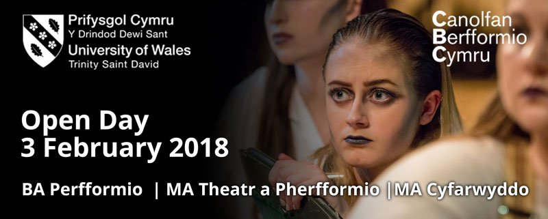 Canu Cymraeg? Yes you can &amp; more! Study singing, dancing, acting &amp; performance through the medium of Welsh @uwtsd. @CBCymru has an #openday on Saturday. Undertgraduate &amp; postgraduate courses offered.  http:// bit.ly/2rTulaP  &nbsp;   @yrawrgymraeg #yagym #GoodTimes #DyddieDa <br>http://pic.twitter.com/GKhU68wMmb