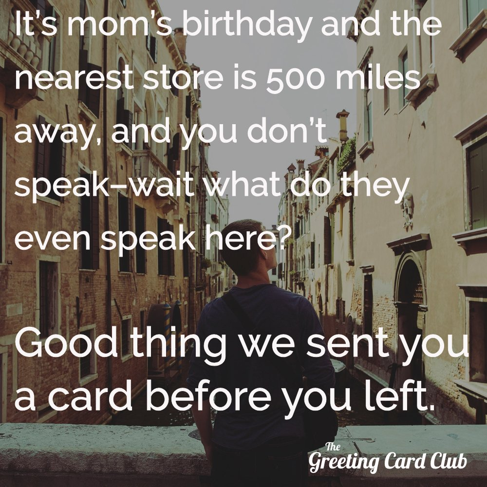 The greeting card club greetingcardclb twitter thegreetingcardclub making moms happy one birthday card at a time sign up today httpthegreetingcardclub justsignandsendpicitter kristyandbryce Image collections