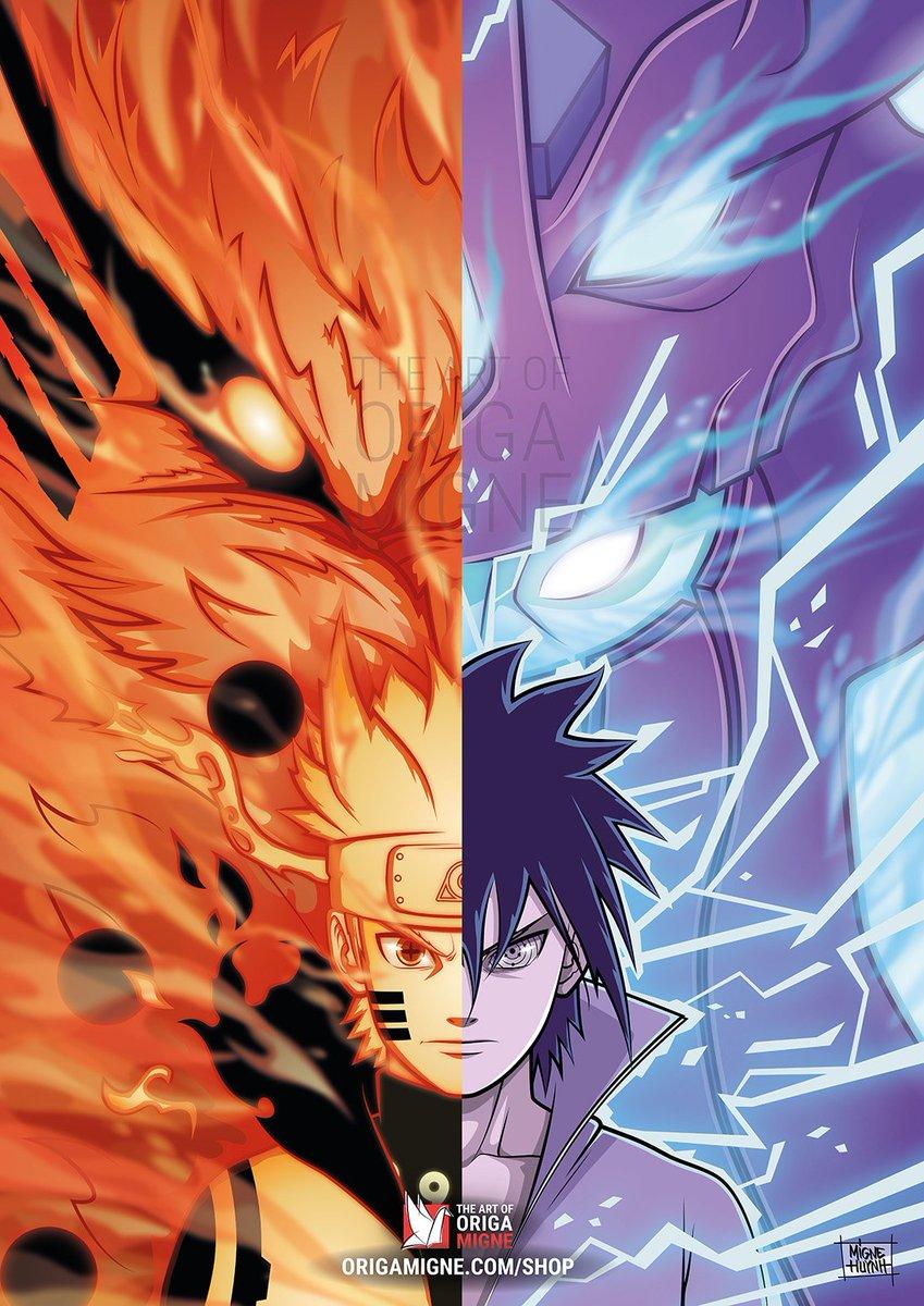 Migne On Twitter Naruto Vs Sasuke Dessin