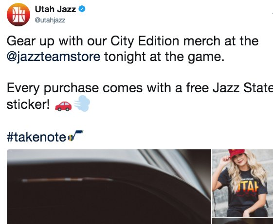 utah jazz city edition sticker