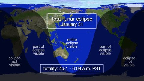 January 31 Lunar Eclipse Map.Nasa On Twitter Will You Be Able To See The Superbluebloodmoon In