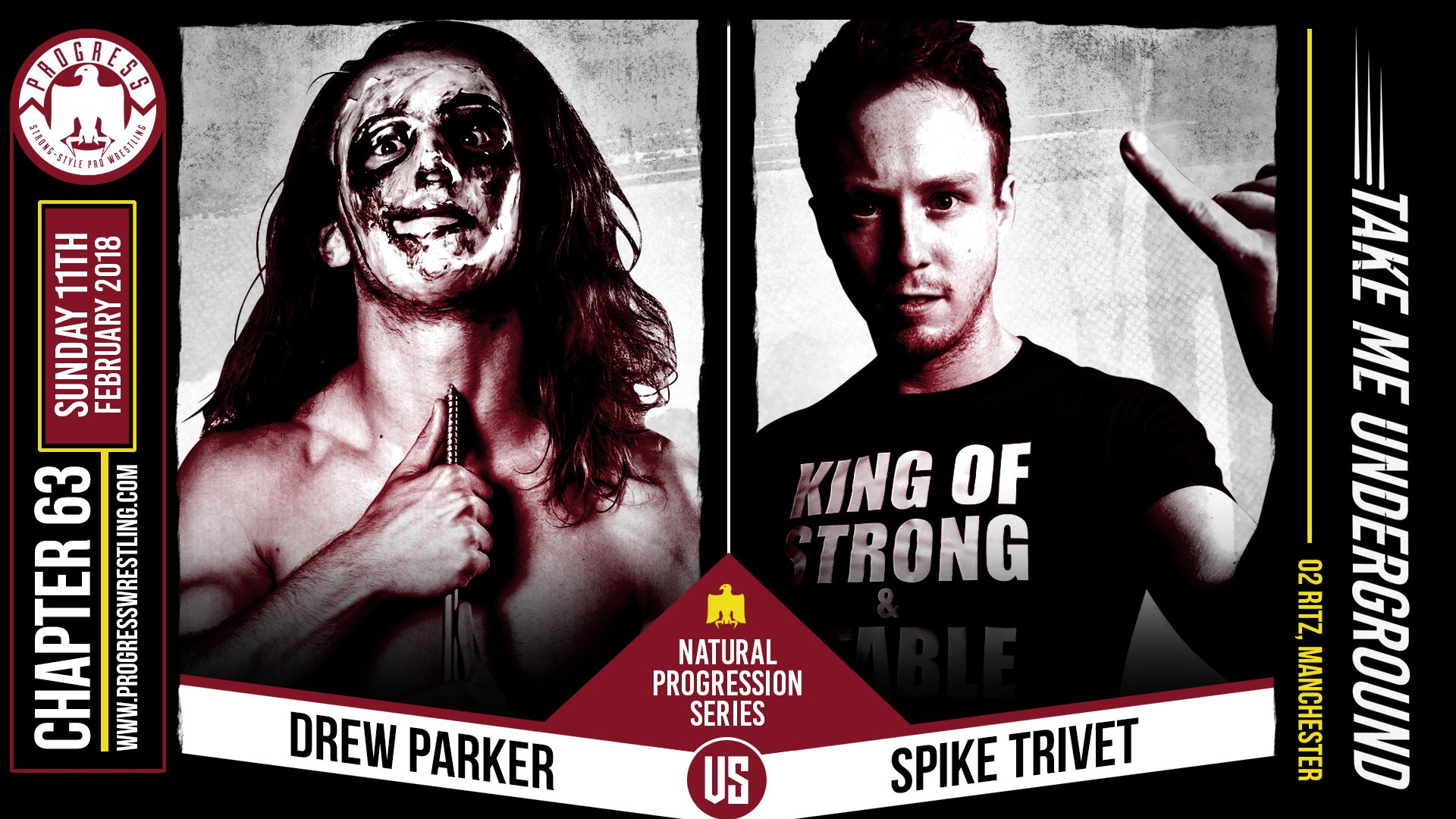 Image result for Progress Wrestling Spike Trivet vs. Drew Parker